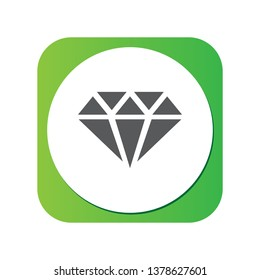 Isolated mineralogy icon symbol on clean background.  diamond element in trendy style.
