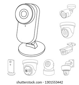 line icon dome camera images stock photos vectors shutterstock Laptop Camera isolated object of cctv and camera logo collection of cctv and system stock symbol for
