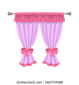 Isolated object of curtain and window logo. Set of curtain and jalousie stock bitmap illustration.