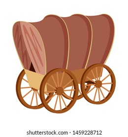 Isolated object of stagecoach and wagon logo. Collection of stagecoach and ride stock symbol for web.