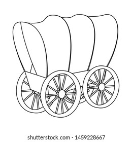Isolated object of stagecoach and wagon symbol. Set of stagecoach and ride bitmap icon for stock.