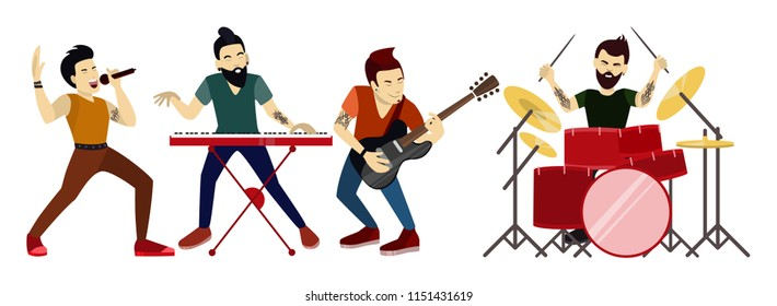 Image result for cartoon band