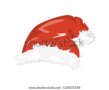 0a38d914fb2ef Royalty-free stock illustration ID  520070188. Isolated Santa hat. Symbol  of Christmas and New Year. Santa Claus clothes element. Red hat with white  fur.