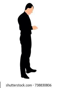 Silhouette of Man Standing Sideways Stock Vectors, Images & Vector Art    Shutterstock