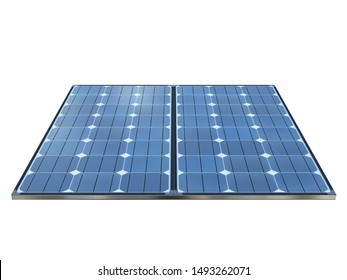 Isolated solar panels with white background. 3d rendering - illustration.