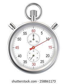 Isolated Stopwatch. Classic stopwatch. Isolated with Clipping path.