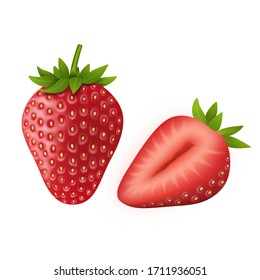 illustrated strawberries images stock photos vectors shutterstock https www shutterstock com image illustration isolated strawberry illustration on white background 1711936051
