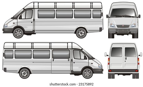 Isolated Stretch passenger bus. Vector version illustration see in my portfolio.