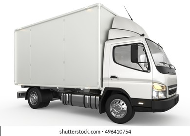Isolated truck on white background