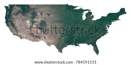 United States Map Satellite.Isolated Usa Map Map United States Stock Illustration Royalty Free