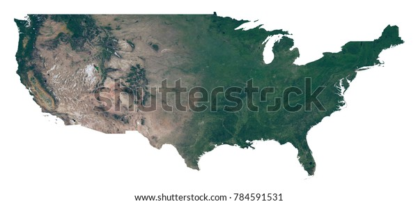 Isolated Usa Map Map United States Stock Illustration 784591531