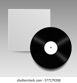 vector vinyl disc cover template your stock vector royalty free