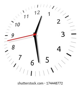 Isolated watch on white background. Computer generated image with clipping path.