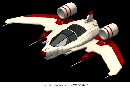 Isometric futuristic sci-fi architecture, small space shooter. 3D rendering