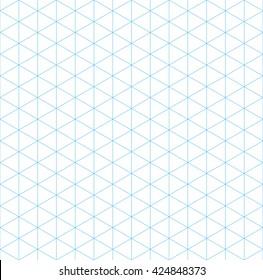 isometric grid seamless pattern