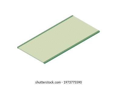 Isometric illustration of tatami mat (Japanese straw floor coverings)