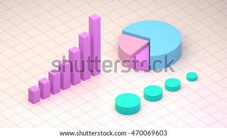 Isometric Infographic Composition Pie Chart Stock Stock Illustration