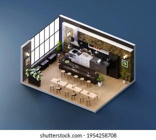 Restaurant 3d Floor Plan Hd Stock Images Shutterstock