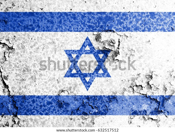 Israel flag grunge background. Background for design in country flag