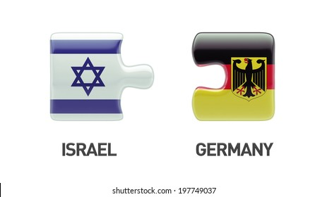 Israel Germany High Resolution Puzzle Concept