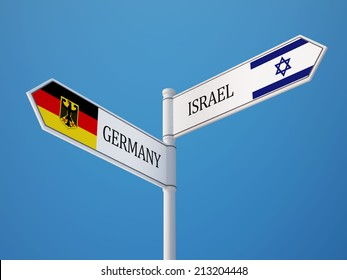 Israel Germany High Resolution Sign Flags Concept