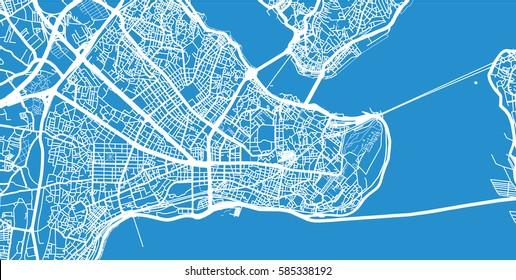 Istanbul, Turkey city map