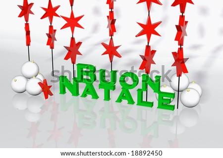 Buon Natale 3d.Italian Christmas Card Buon Natale 3 D Stock Illustration 18892450