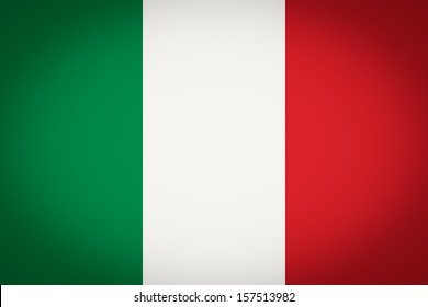 Italian flag of Italy vignetted
