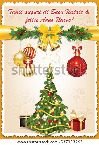 Italian greeting card we wish you stock illustration 537953263 italian greeting card we wish you merry christmas and happy new year print colors m4hsunfo