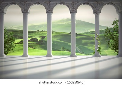 Italian interior background