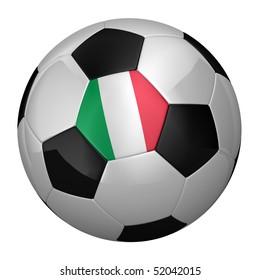 Italian Soccer Ball isolated over white background
