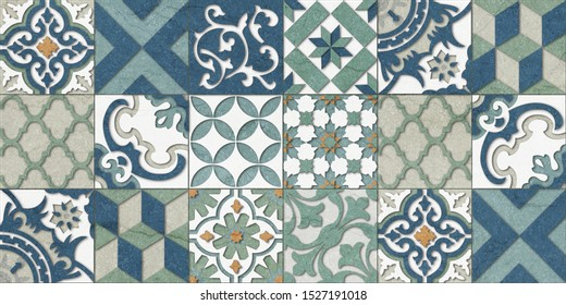 Italian wall Decor, Digital Wall Tile Design, Wall tiles Seamless pattern multi Colored Marble For Home Decoration,3D illustration can be used for wallpaper, linoleum, textile, web page background