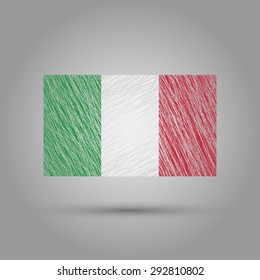 Italy flag. Grunge texture. transparent background.