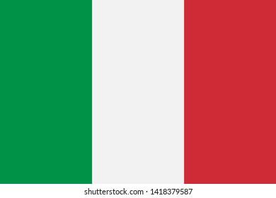 Italy flag isolated on white background