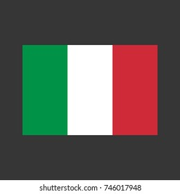 Italy flag on the gray background.  illustration
