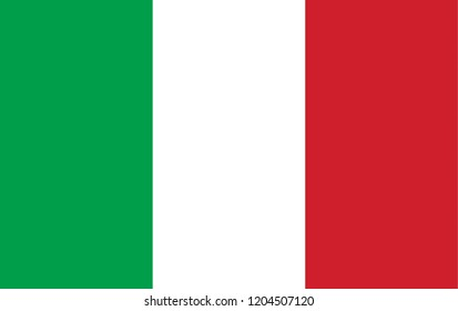 Italy flag proportion color. Italian flag banner country of europe.