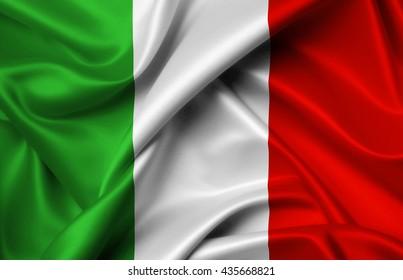 Italy flag of silk illustration