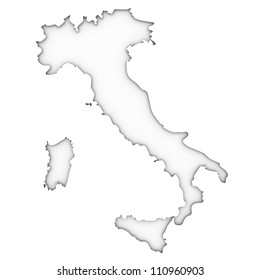 Italy map on a white background. Part of a series.