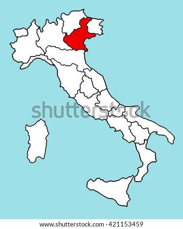 Italy Map Veneto Stock Illustration Royalty Free Stock