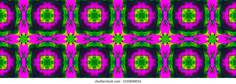 Italy Sicily Majolica. Aztec Geometric Tropical Fluorescent Surface. Italy Sicily Majolica Background. Purple Damask Faience Banner. Fluorescent Arabian