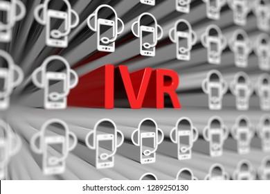 IVR concept blurred background 3d render illustration