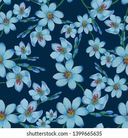 Ixia pattern on dark blue background