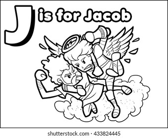 J is for Jacob Coloring Activity