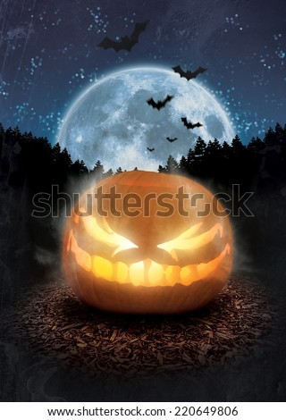 jack o lantern halloween flyer template stock illustration 220649806