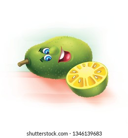 Jackfruit Cartoon Images
