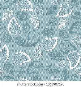 jacquard leaf pattern
