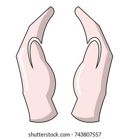 Jainism icon. Cartoon illustration of jainism  icon for web design