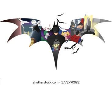 Jakarta, Indonesia - 02 18 2020 : Preview of Batman
