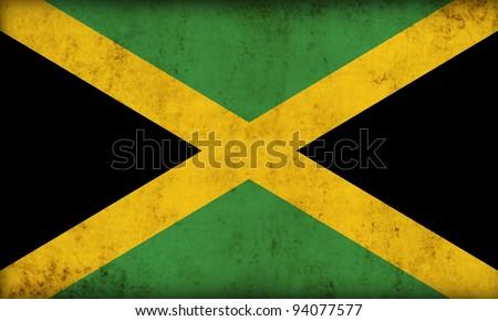 Jamaica flag background