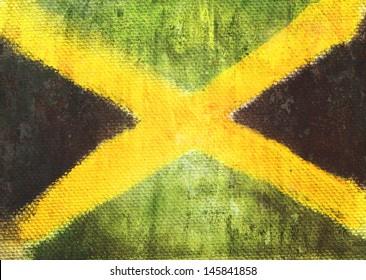 Jamaica flag vintage retro style background